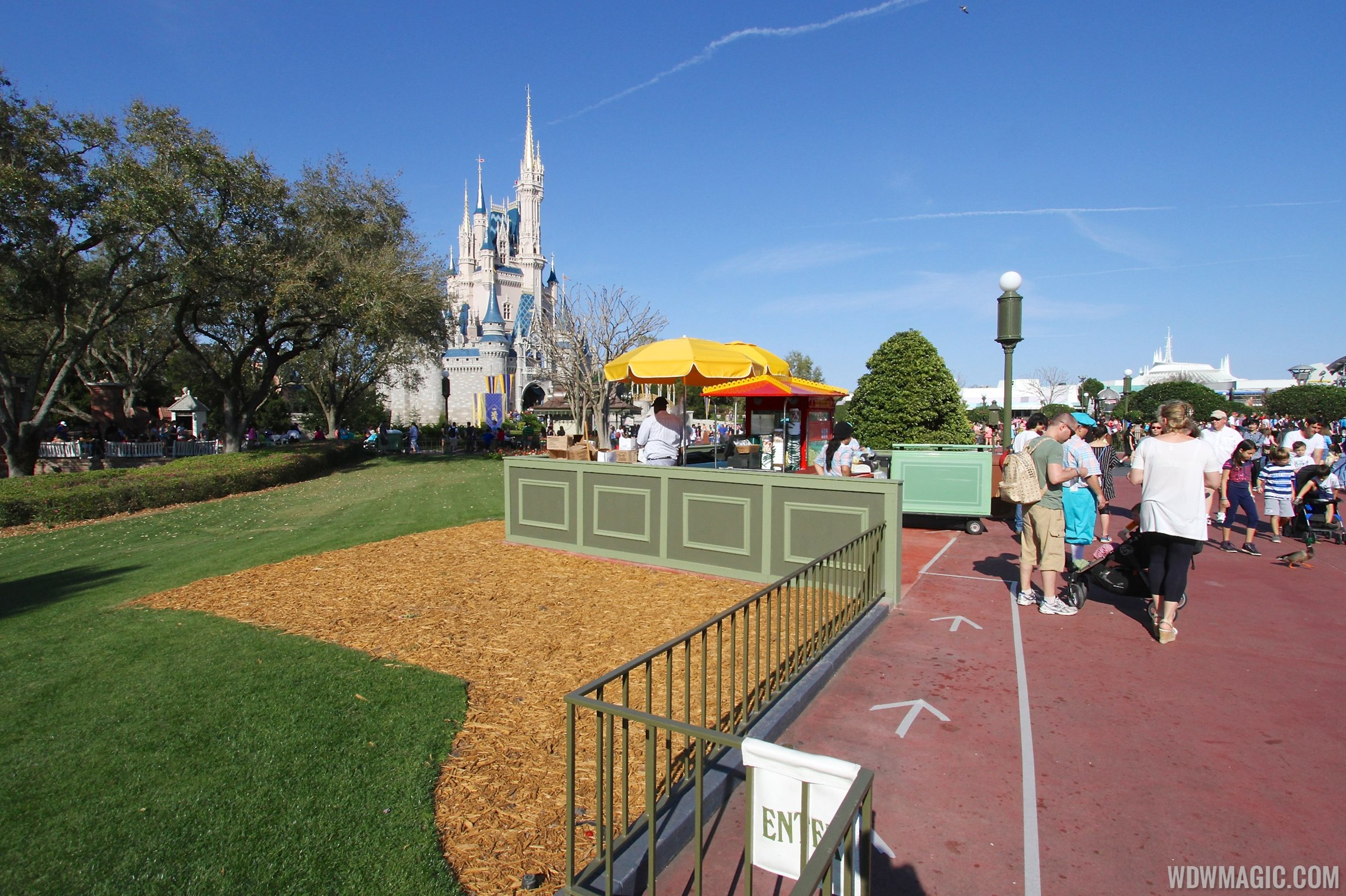 Magic Kingdom hub redevelopment construction