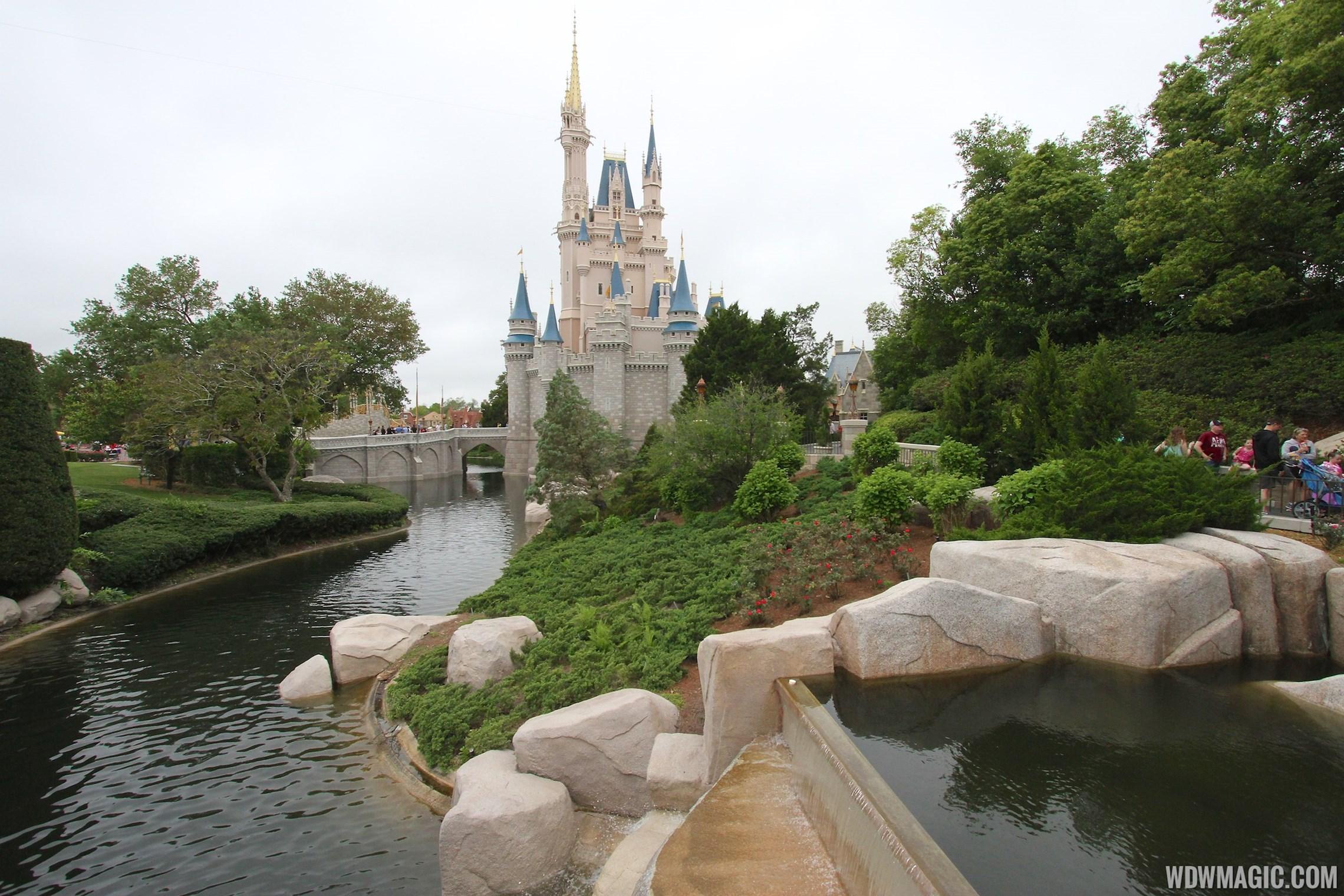 Magic Kingdom moat refilled