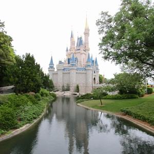 1 of 4: Main Street, U.S.A. - Magic Kingdom moat refilled