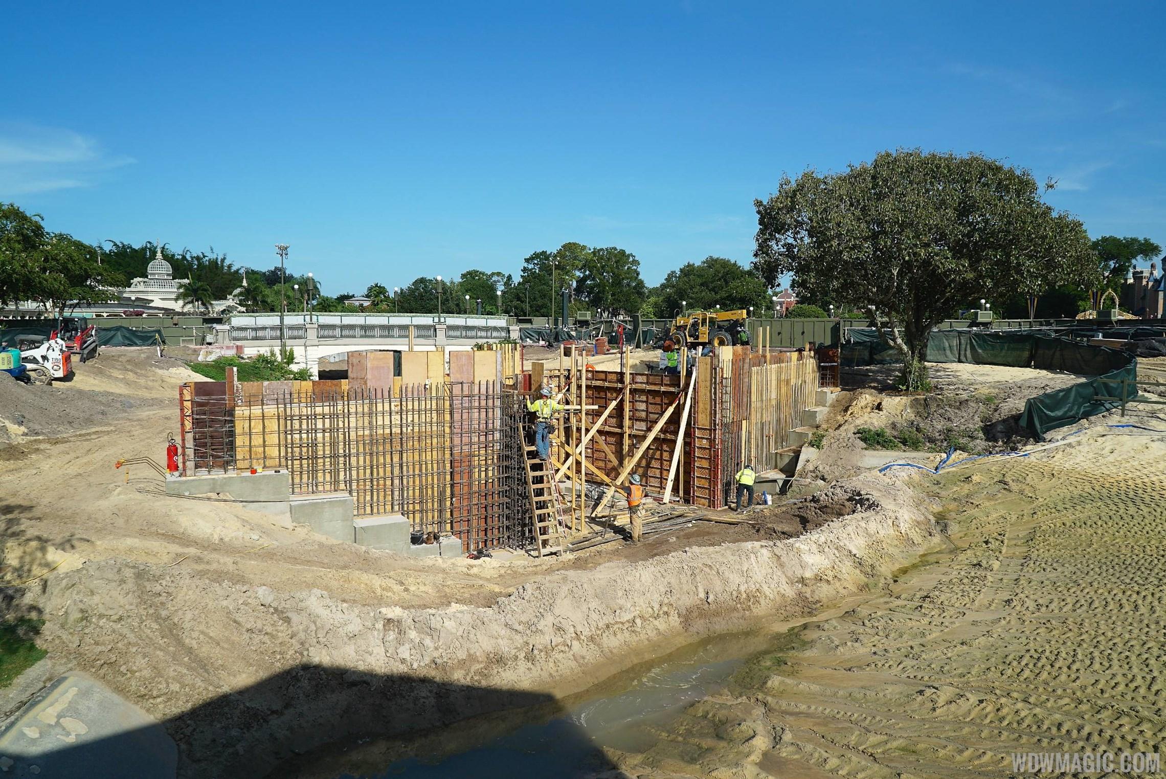 Magic Kingdom hub construction