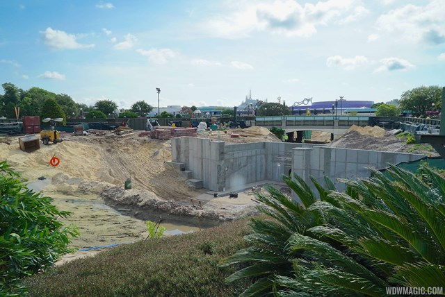 Hub redevelopment viewed from Adventureland side