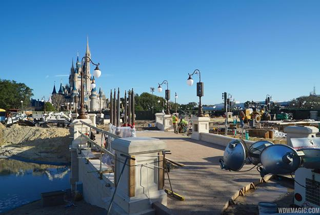 Magic Kingdom hub construction