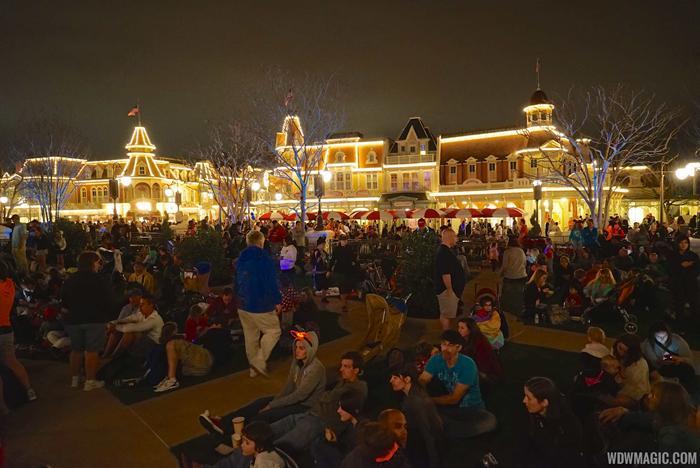 Main Street Plaza Gardens after-dark