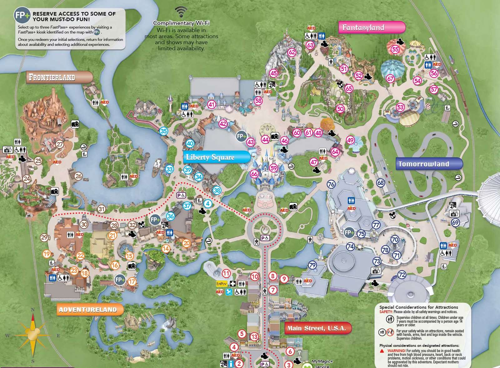 photos new magic kingdom guide map shows changes to the hub area