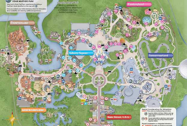 New Magic Kingdom guide map shows new Plaza Gardens