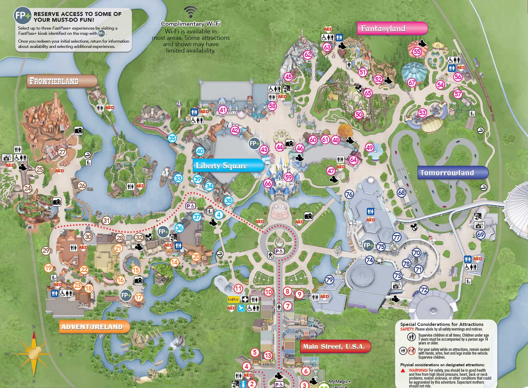Magic Kingdom Map 2015 Orlando New Magic Kingdom Guide Map