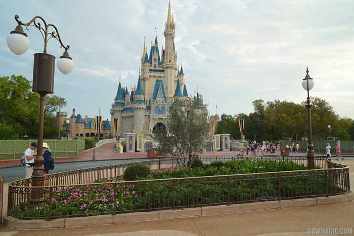 Magic Kingdom central hub construction