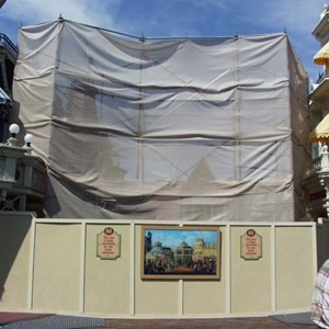 1 of 5: Main Street, U.S.A. - Main Street Emporium construction concept art and construction photos