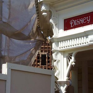 2 of 5: Main Street, U.S.A. - Main Street Emporium construction concept art and construction photos