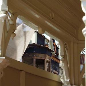 3 of 5: Main Street, U.S.A. - Main Street Emporium construction concept art and construction photos