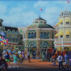 5 of 5: Main Street, U.S.A. - Main Street Emporium construction concept art and construction photos