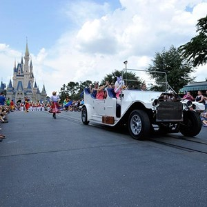 2 of 2: Main Street, U.S.A. - New Grand Marshal vehicle debuts in the Magic Kingdom