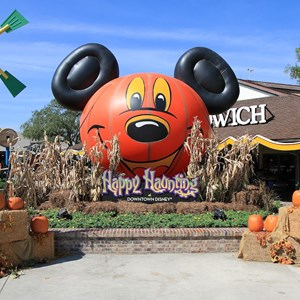 1 of 10: Marketplace - The largest of the Halloween decorated areas in the Marketplace