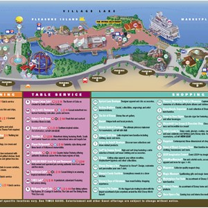 1 of 1: Marketplace - New Downtown Disney guide map