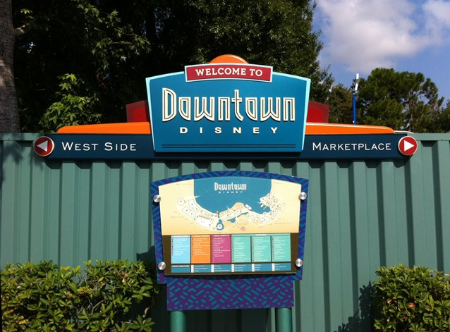 Marketplace - New signage at the Pleasure Island bus stop