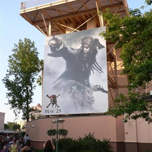 1 of 2: Mickey Avenue - Huge new Pirates of the Caribbean movie poster installed