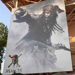 2 of 2: Mickey Avenue - Huge new Pirates of the Caribbean movie poster installed
