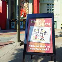 Mickey and Minnie's Runaway Railway coming soon posters up at The Chinese Theatre