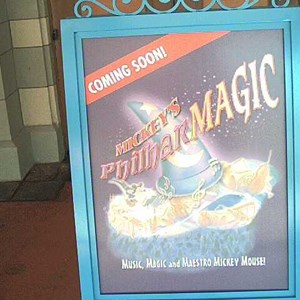1 of 1: Mickey's Philharmagic - New Philharmagic sign outside the former Legend of the Lion King location