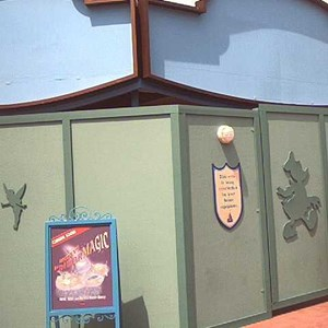 1 of 2: Mickey's Philharmagic - Construction walls around the theater