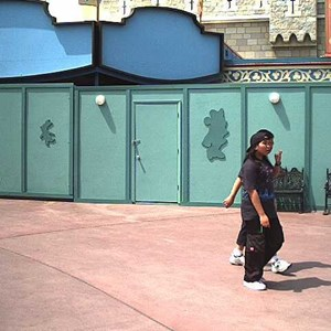 2 of 2: Mickey's Philharmagic - Construction walls around the theater