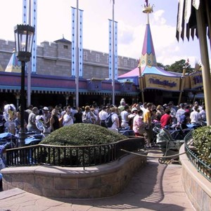 1 of 2: Mickey's Philharmagic - Big crowds at the newly opened Philharmagic
