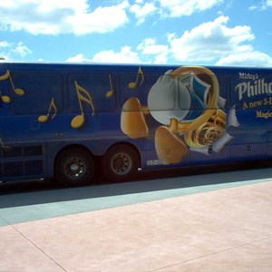 1 of 1: Mickey's Philharmagic - PhilharMagic wrapped bus