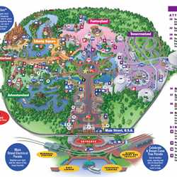 Mickey's Toontown removed from the Magic Kingdom map