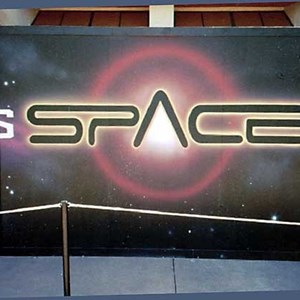 1 of 7: Mission: SPACE - Space logos appear on the Horizons construction walls