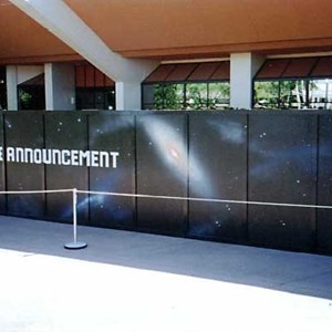 4 of 7: Mission: SPACE - Space logos appear on the Horizons construction walls