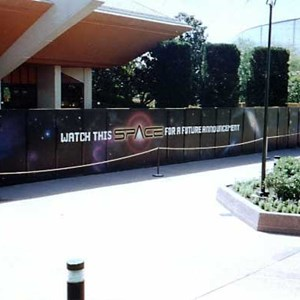 6 of 7: Mission: SPACE - Space logos appear on the Horizons construction walls