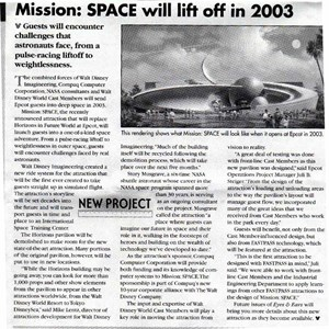 1 of 1: Mission: SPACE - Cast Member Eyes and Ears article