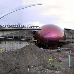 Panoramic construction image