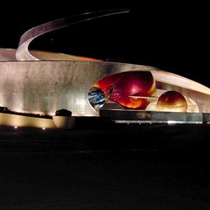 1 of 3: Mission: SPACE - A look at the pavilion at night