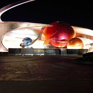 2 of 3: Mission: SPACE - A look at the pavilion at night