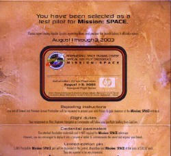 2 of 3: Mission: SPACE - Annual Passholder preview invitations