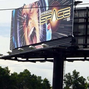 1 of 1: Mission: SPACE - Advertising billboards