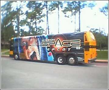 Mission Space bus wrap