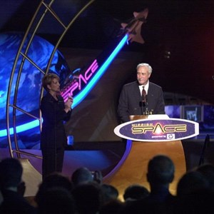 2 of 4: Mission: SPACE - Michael Eisner and NASA officials dedicate Mission SPACE.