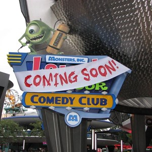 1 of 1: Monsters Inc Laugh Floor Comedy Club - Laugh Floor Comedy Club signage installed