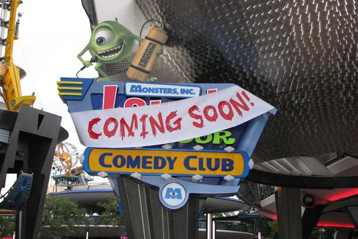 Laugh Floor Comedy Club signage installed