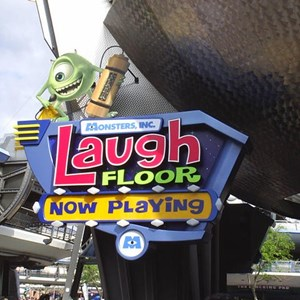1 of 1: Monsters Inc Laugh Floor Comedy Club - Laugh Floor name change - new sign