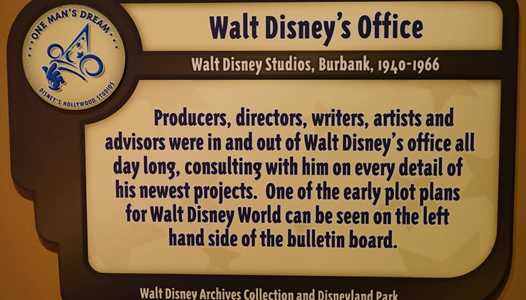 Walt's office removed from One Man's Dream exhibit at Disney's Hollywood Studios