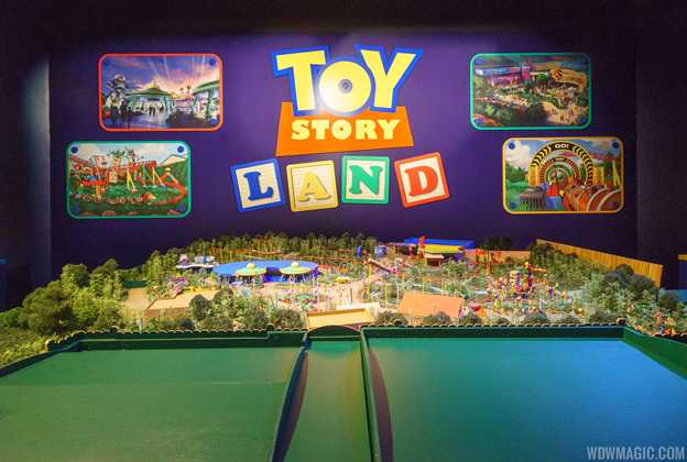 Toy Story Land and Star Wars A Galaxy's Edge models