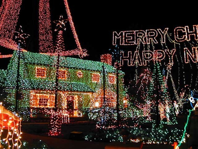 Osborne Family Spectacle of Lights display on Residential Street