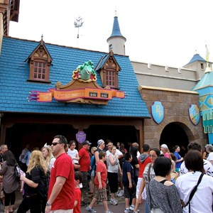 1 of 4: Peter Pan's Flight - Queue area construction