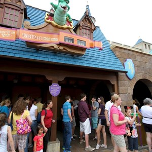2 of 4: Peter Pan's Flight - Queue area construction