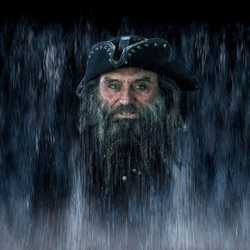 Captain Blackbeard water mist scene