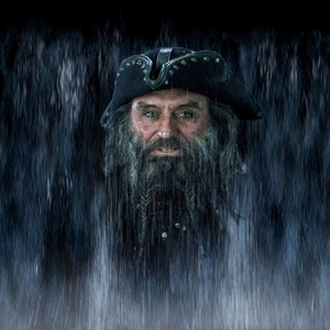1 of 1: Pirates of the Caribbean - Captain Blackbeard water mist scene