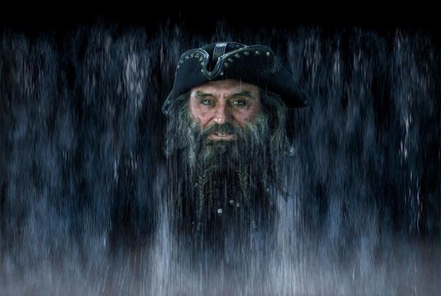 Captain Blackbeard water mist scene